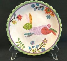 """Cracker Barrel Easter Scalloped Spring Time Bunny  8-1/2"""" Salad Dessert ... - $14.99"""