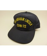 Vintage USS Abraham Lincoln CVN-72 Dark Blue Snapback Medium-Large Size - $35.60