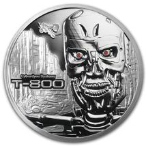 Terminator T-800 2 Oz .999 Silver Proof Round With COA & Individually Numbered image 3