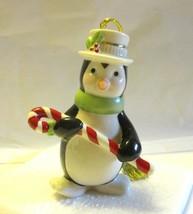 "Lenox Porcelain 24K Gold Penguin Very Merry Christmas Ornament 3 3/4"" NIB - $11.29"
