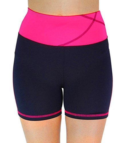 W Sport Women's Moisture Wick Skinny Athletic Yoga Running Shorts, Wine Red, Med