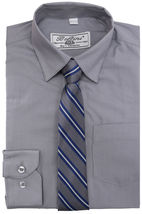 Boltini Italy Boys Kids Toddlers Long Sleeve Dress Shirt Set with Matching Tie image 4