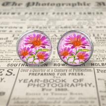 Pink Watercolor Flowers Earrings  - $17.95
