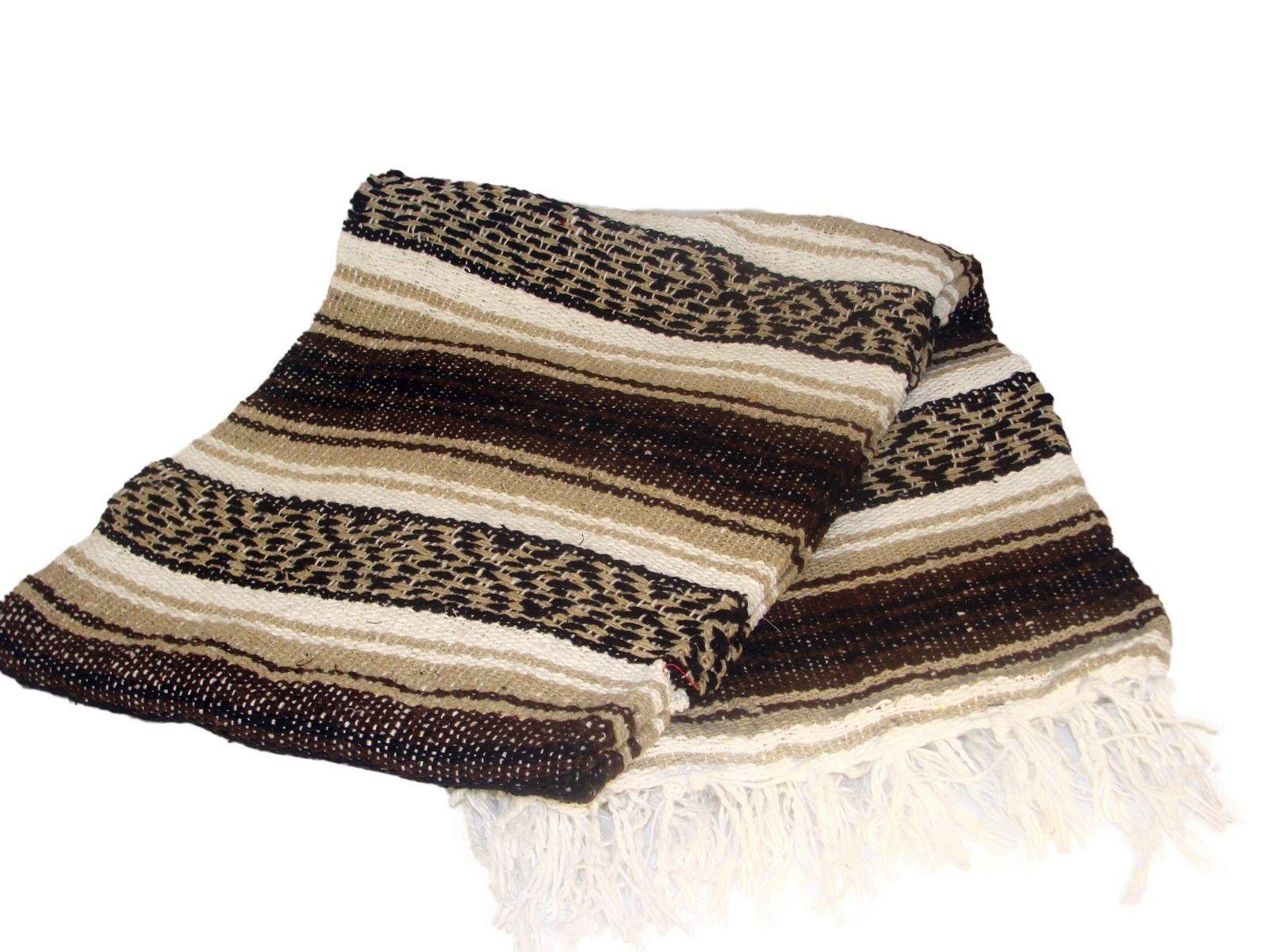 #11 Two 2 Falsa Tourist Mexican Travel Blanket Yoga Throw Picnic Snuggle Afghan