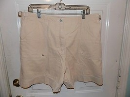 Ralph Lauren Polo J EAN S Light Tan Shorts Size 16 Women's Euc Free Usa Shipping - $23.23