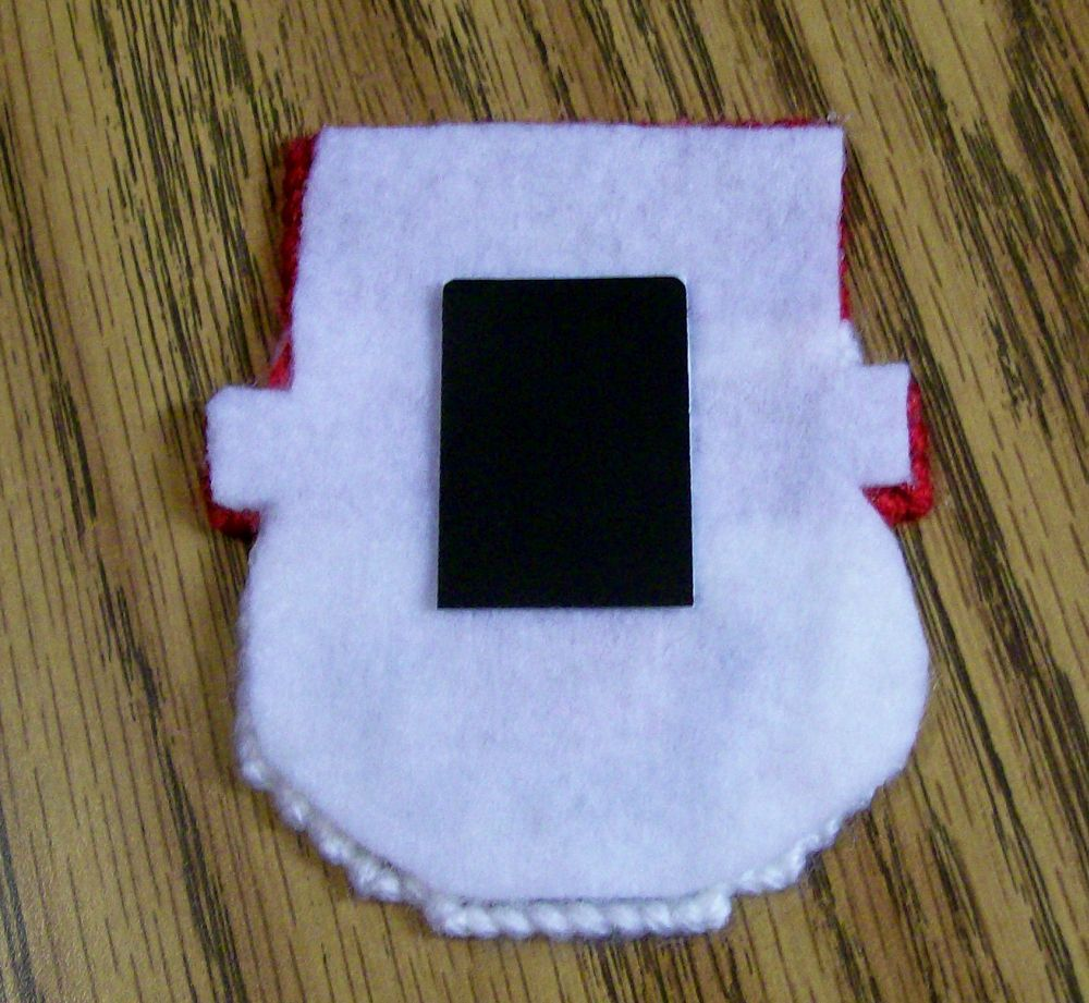 Plastic Canvas Christmas Snowman Magnet, Fridge, Needlepoint, Handmade, Holiday