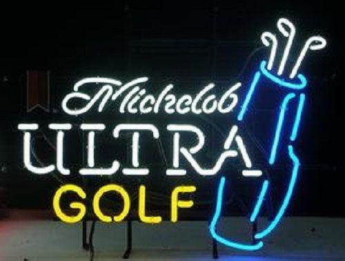 """New Michelob Ultra Golf Bag Neon Light Sign 24""""x20"""""""
