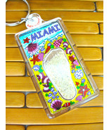 MIAMI FLORIDA  Flip Flop Sand Key Chain Key Ring FOB, New - $4.99