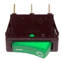 ROCKER SWITCH LIGHTED ON/OFF Black W/Green Light 20A for Garland STW286 ... - $35.00