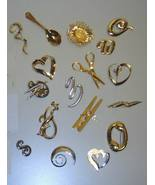Assorted Quality Jewelry Silver & Gold Tone (Fashion Pins) / 72 Pieces - $64.08