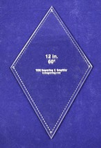"""60 Degree Diamond 12""""- -Acrylic 1/8"""" -Quilt Templates/Sewing - $32.99"""