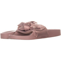 Steve Madden Silky Bow Detail Slide Sandals 349, PinkSatin, 5 US - $19.19