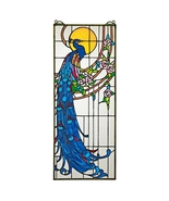 Peacock's Sunset Stained Glass Window - $161.99