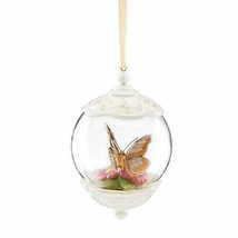 Lenox Butterfly Meadows Gold Globe Ornament Glass 20th Anniversary LE Ch... - $79.20