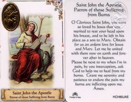 Burn Fire Sufferers Patron Saint John Apostle - Item EB890 -  Catholic L... - $2.79
