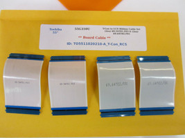 "Toshiba 55"" 55G310U T-Con to LCD Ribbon Cable Set (2ea) 69.54T01.F03 & (2ea) 69. - $21.00"
