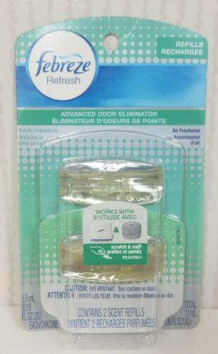 Primary image for Febreze Refresh refill Fresh Meadow Scent Twin pack 0.18 oz each Rare New