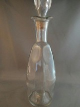 """12"""" Clear Glass Liquor Bottle Decanter with stopper (dimples) - $15.00"""