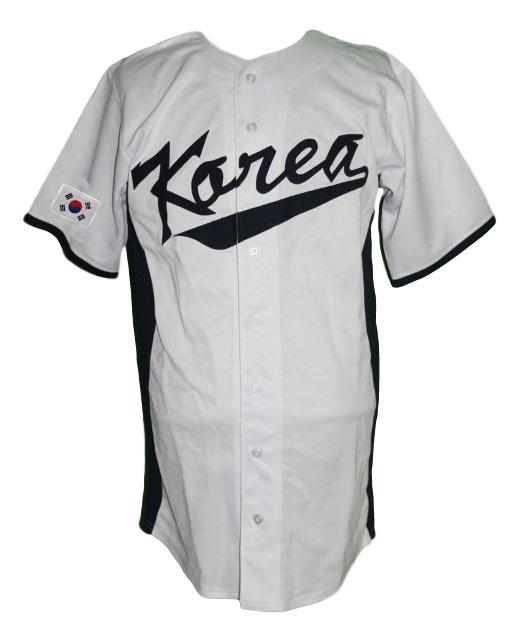 Shin soo choo south korea baseball jersey button down white  1