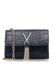 MARIO VALENTINO DARK BLUE ANIMAL EMBOSSED SHOULDER CLUTCH BAG - $155.00