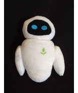 "Disney Store Wall-E Plush Eve White Robot Green Leaf 6"" Movable Head - $17.99"