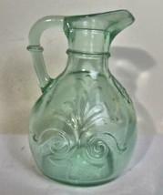 "Vintage Recycled  Pressed Glass Cruet 4.25"" - $14.00"