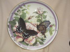 SPICEBUSH SWALLOWTAIL collector plate BUTTERFLY GARDEN Paul Sweany ROSE - $19.99