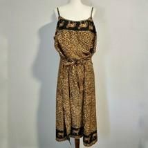 Rima Beachwear Dress XL Sundress Beach CoverUp Cheetah Animal Print Ethn... - $22.99