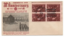 Commemorative Cover Army Ambulance Corps 1917-1947 Camp Crane Allentown PA - $30.00