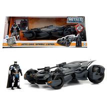 2017 Justice League Batmobile with diecast Batman Figure 1/24 Diecast Mo... - $52.98