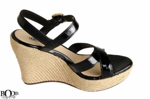 cabe518906e Ugg Jackilyn Black Patent Leather Wedge and 50 similar items