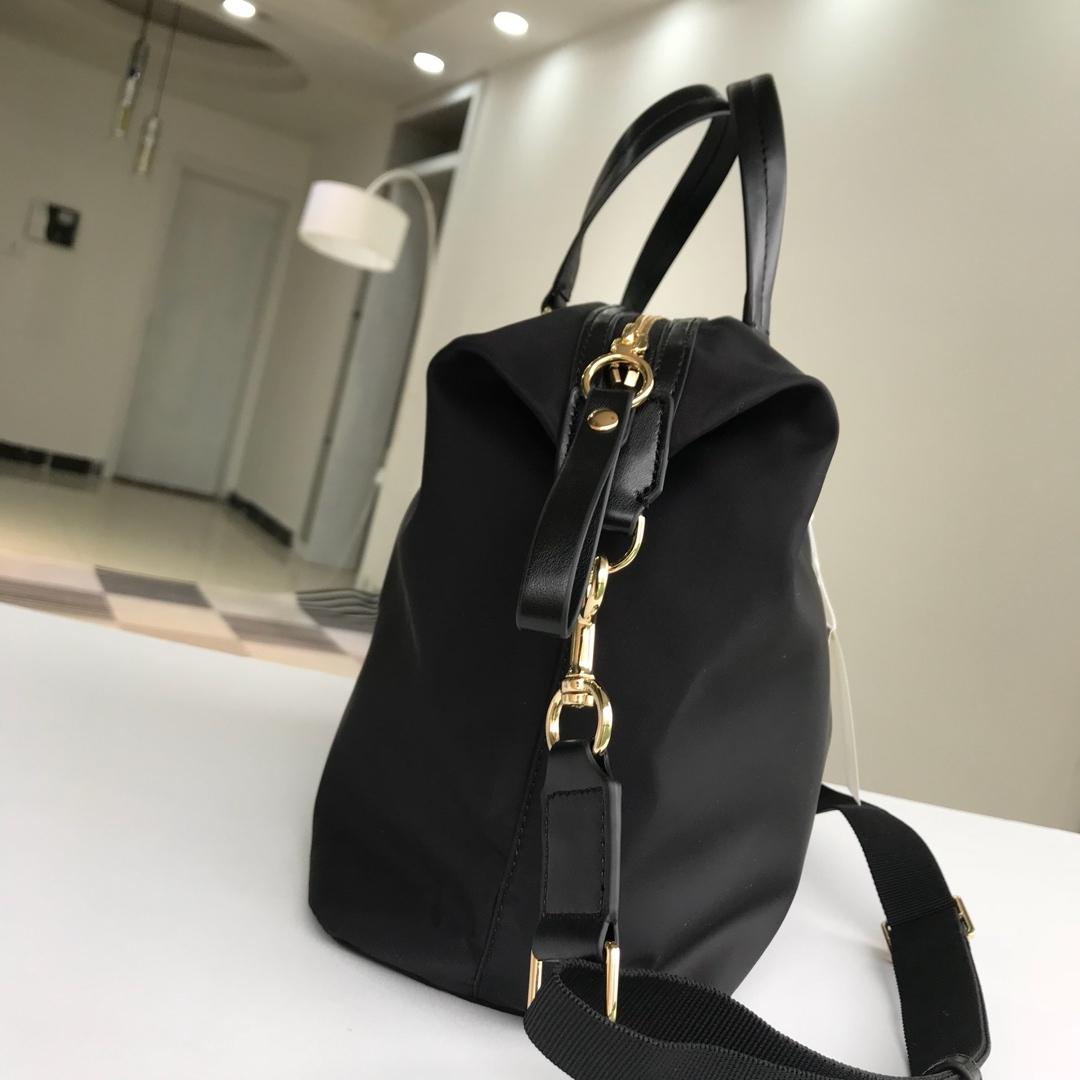 Tory Burch Travel Nylon Handbag Black Authentic