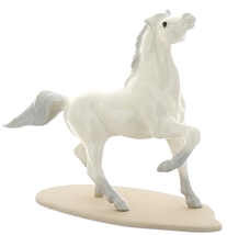 Hagen-Renaker Miniature Ceramic Horse Figurine Wild Arabian on Base White image 1