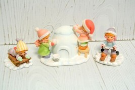 Precious Moments Hawthorne Village Accessory  SNOWY FUN FOR EVERYONE 91308 - $98.95