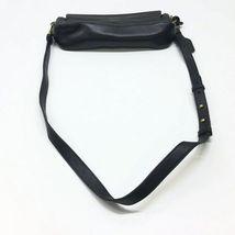 Badgley Mischka Black Leather Gold Stud Crossbody Shoulder Bag Purse image 6