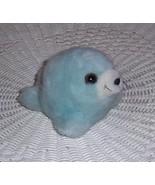 "Puffkins Plush 5"" SLICK Baby Blue Seal Puffball WEECARE - $5.89"