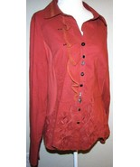 JANE & JOHN Womens Size L Asymmetrical Blouse Unique Buttons Made in Tur... - $22.28