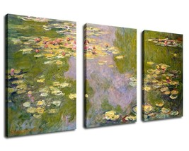 """Canvas Wall Art Water Lilies 1919 by Claude Monet Painting Print - 20"""" x... - $25.90+"""