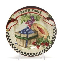 Farmers Market by Sakura, Stoneware Salad Plate, Fresh Fruit - $11.88