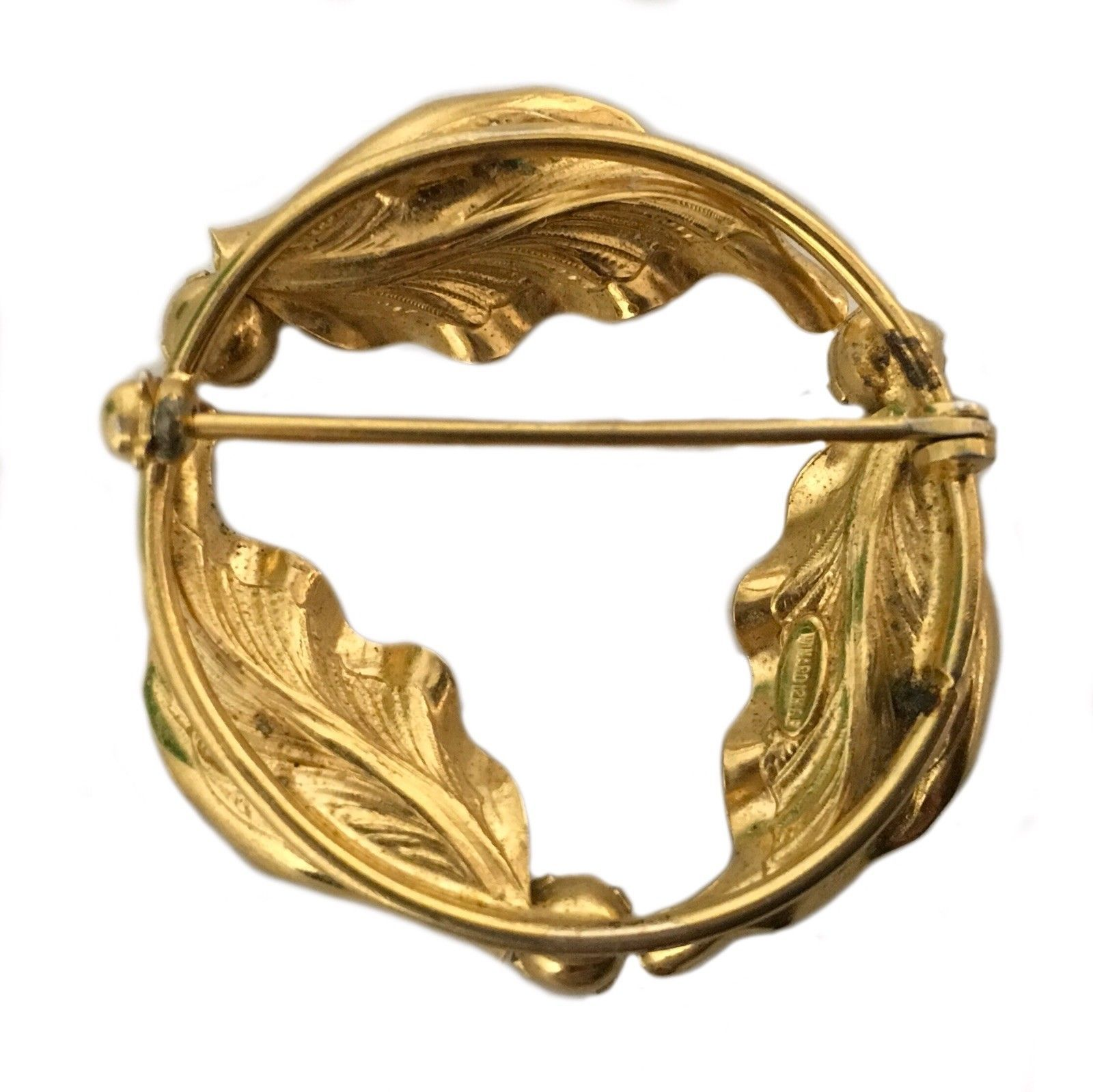 Vintage Windar Gold Plated 12k Brooch Pin Costume Jewelry