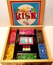 Parker Brothers RISK Nostalgia Series Continental Board Game WOOD BOX Complete - $36.13