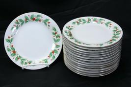 "China Pearl Noel Salad Plates 7.5"" Set of 15 Brown Back Stamp - $61.69"