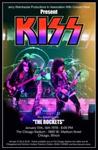 KISS Band ALIVE II Tour At The Chicago Stadium Jan 15,16 1978 Stand-Up D... - $16.99