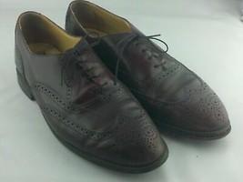 Bostonian Impression Burgundy Leather Oxfords Mens Shoes 12 E/C - $57.59