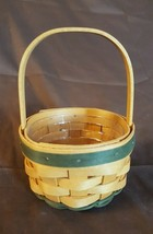 Longaberger 2002 St Patricks Day Lucky You Basket With Plastic Protector - $19.95