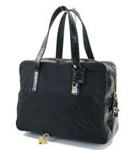 Authentic PRADA Black Nylon and Leather Tote Hand Bag Purse #32034A - $219.00