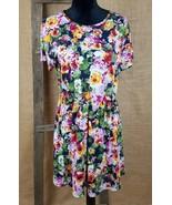 asos womens 10 floral dress short sleeve roses - $24.73