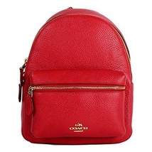 COACH MINI CHARLIE BACKPACK IN PEBBLE LEATHER F38263 - $186.23