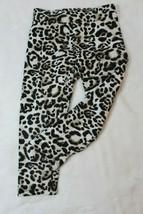 Justice Girls Capri Leggings Size 7 Cheetah Print Jersey Knit Spring Summer - $15.67