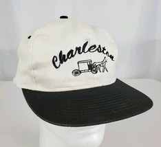 Vtg Charleston South Carolina Snapback Hat Cap Cotton Twill Embroidered ... - $14.99